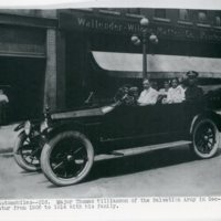 Major Thomas Williamson in an Automobile With His Family