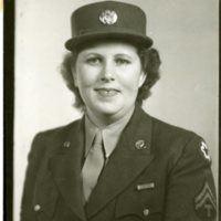 Photo Helen E. Acorm in Uniform, 1/11/1944.