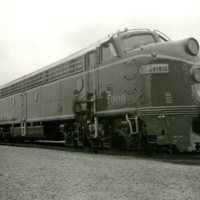 RR122-Wabash RR EMD model E-8-A- engine 1009 in blue paint scheme with John Day at Decatur Il  1956014.jpg
