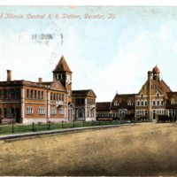 Photograph of Illinois Central R. R. Postcards