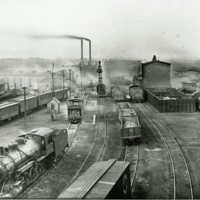Photograph of the Illinois Central R. R. Roundhouse and Yards