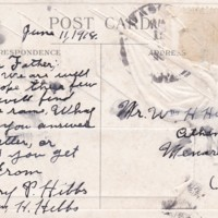 HH81-Postcard to William from Henry - June 11, 1918 - side 2_0001.jpg