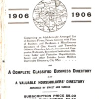 1906 Ebel's Decatur City Directory