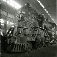 RR92-Class J 4-6-2 #667 in the roundhouse  at Decatur, Il 5-6-1954 223.jpg