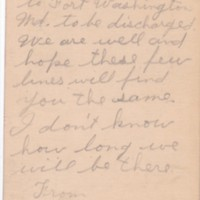 HH82-Postcard to William from Henry and Johnny - Jan 29, 1919 - discarged - side 2_0001.jpg