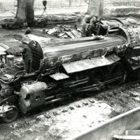 RR100-Wabash Engine 660 being salvaged 2-6-1953238.jpg